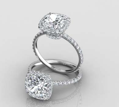 Halo Engagement Rings Eternity By Yoni