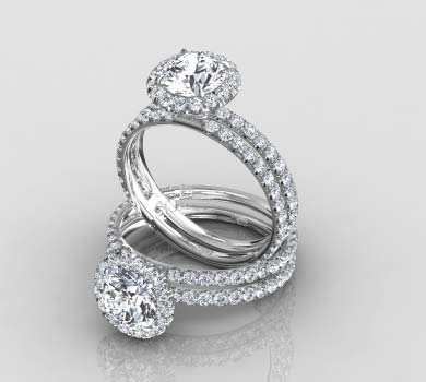 halo engagement rings - Halo Wedding Rings