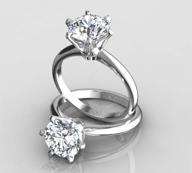 Six Prong Solitaire Ring Wi...