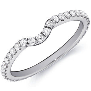 18k White Gold Leila Diamond Prong-Set Band