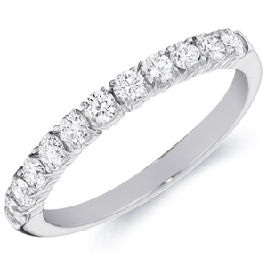 14k White Gold Claire Eleven Round-Cut Diamond Band by Eternity