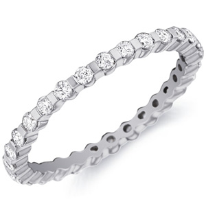 14k White Gold Caroline Stylized Diamond Band by Eternity