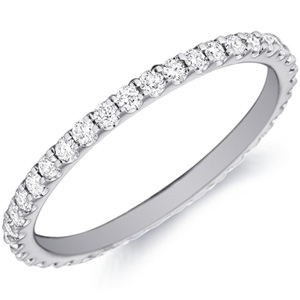 18k White Gold Alice Prong-Set Diamond Band By Eternity