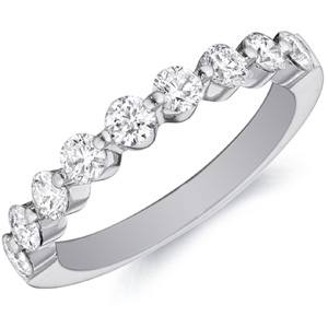 18k White Gold Lisa Nine-Diamond Ring by Eternity