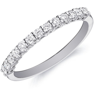18k White Gold Sasha Diamond Band by Eternity