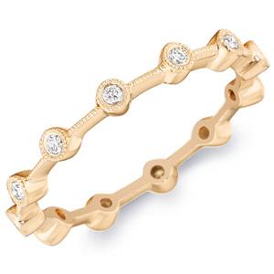 18k White Gold Phoebe Floating Bezel-Set Diamond Band by Eternity