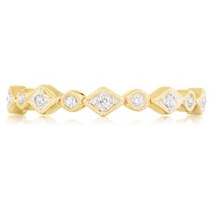 18k White Gold Tatiana Bezel-Set Diamond Band In Decorative Settings by Eternity