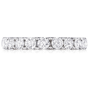 18k White Gold Abigail Round-Cut Diamond Band by Eternity