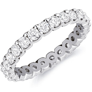 18k White Gold Alexandra Diamond Band by Eternity