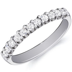 18k White Gold Alison Eleven Diamond Band by Eternity