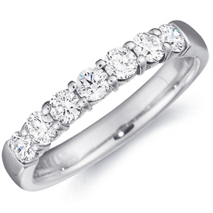 18k White Gold Hayley Seven Diamond Band by Eternity