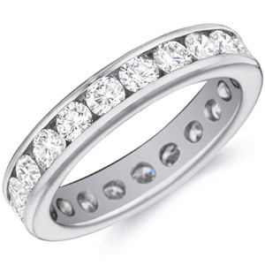 18k White Gold Mina Channel-Set Diamond Band by Eternity