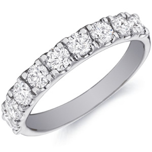18k White Gold Hope Nine Diamond Ring With Four Prong Settings by Eternity