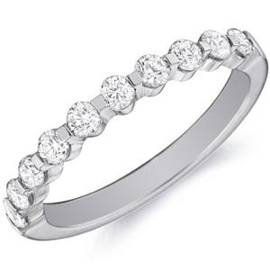 18k White Gold Jennifer Ten Diamond Band by Eternity