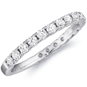 18k White Gold Samantha Diamond Studded Band By Eternity