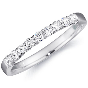 14k White Gold Mirabelle Half-Way Diamond Band