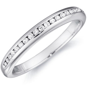 18k White Gold Nadia Diamond Channel Set Band