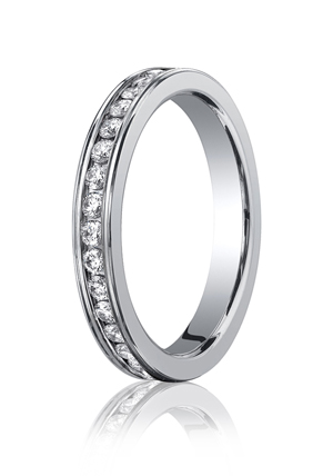 14k White Gold Eternity Band Mens Wedding Rings