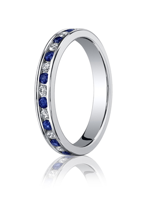 14k White Gold Eternity Band