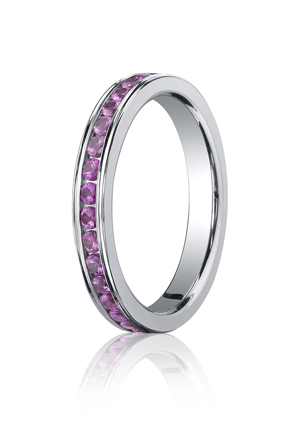 14k White Gold Pink Sapphire Diamonds