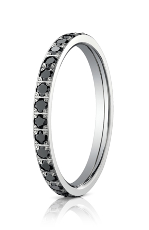14k White Gold Black Diamonds