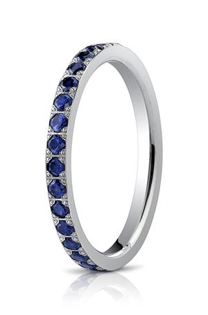 14k White Gold Sapphire Diamonds