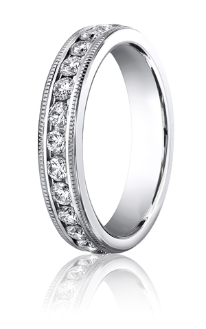 14k White Gold Milgrain