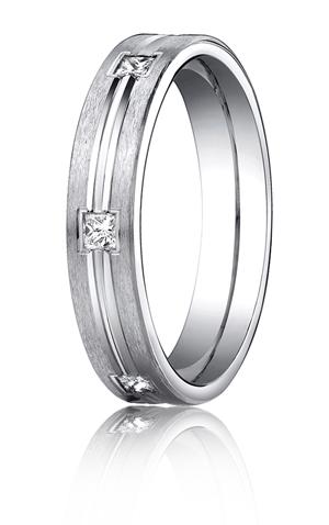 14k White Gold Princess Cut Diamonds