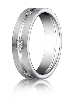 14k White Gold Mens Wedding Rings