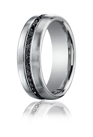 14k White Gold Half Way Band
