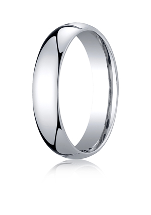 14k White Gold Comfort-Fit