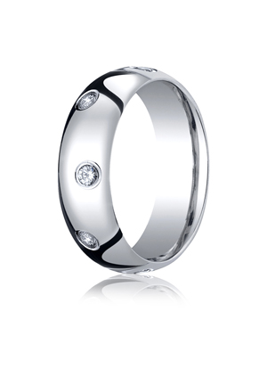 14k White Gold Mens Wedding Rings
