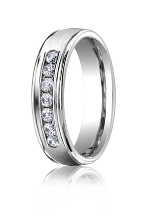 14k White Gold Channel Set