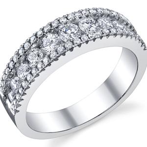 18k White Gold Diamond Fashion Band t.w. approx 1 Ct.
