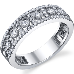 18k White Gold Fashion Diamond Band t.w. approx 3/8ct