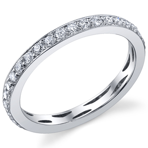 18k White Gold Vintage Style Eternity Band t.w. approx 1/3ct
