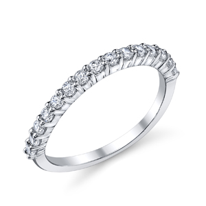 18k White Gold Wedding Band t.w. approx 1/2ct