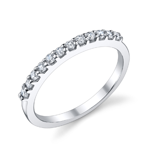 18k White Gold Adriana Prong Set Wedding Band (.23 ctw.)