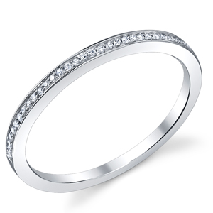 18k White Gold Elegant Wedding Band
