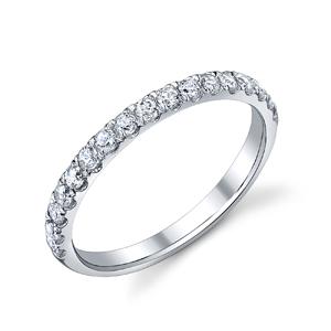 18k White Gold Wedding Diamond Band