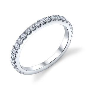 18k White Gold Diamond Wedding Band t.w. approx .45ct