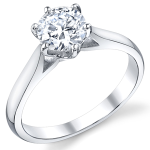 Six Prong Solitaire Cathedral Ring 436 Htm