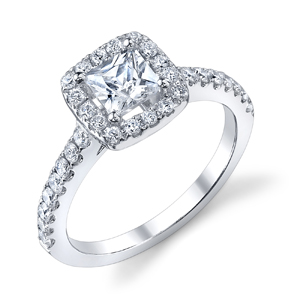 Kelly Diamond Princess Cut Halo Ring 51 Ctw 345 Htm