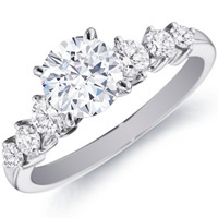 Flora Diamond Ring with Side Stones (.48 ctw.)