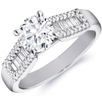 Miranda Baguette Diamond Ring  with Accents by Eternity (.35 ctw.)