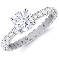 Celeste Diamond Ring with Side Stones by Eternity (1.00 ctw.)
