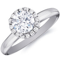 Charlotte Diamond Solitaire with Halo Setting (.17 ctw.)
