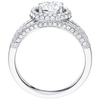 Blythe round-cut diamond with open diamond studded band by Eternity (.55 ctw.)