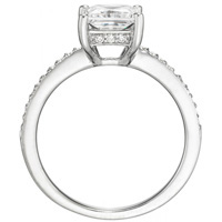 Audrey Princess-Cut Diamond with Bezel-Set Diamond Band (.16 ctw.)
