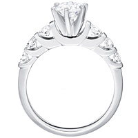 Collette round-cut diamond with six round accent diamonds by Eternity (.73 ctw.)